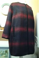 MARKS & SPENCERS LADIES COAT WOOL CONTENT SIZE UK 20 EURO 48 RED/NAVEY B.N.W.T.