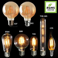 Vintage LED Bulbs Industrial Filament Edison Radio Valve Lightbulb Lamp Amber A+