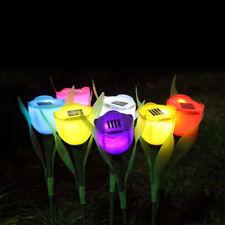 Solar Powered Tulip Flower LED Lamp Garden Path Landscape Light  Yard Outdoor