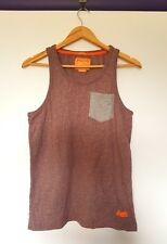 Superdry womens size M burgundy red grey marbled look short sleeve tank top