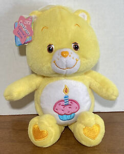 """10"""" 2003 Care Bears BIRTHDAY BEAR Plush With Cupcake New With Tag"""