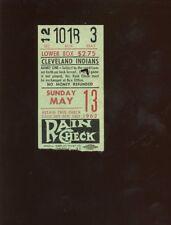 May 13 1962 MLB Baseball Cleveland Indians Ticket Stub