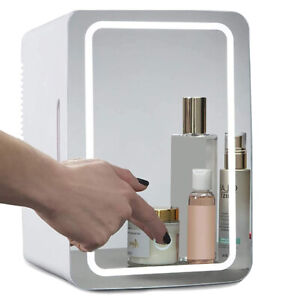 8L Mini Makeup Fridge Mirror Car Cosmetic Refrigerator Portable Beauty Cooler
