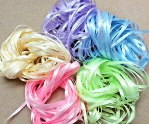 Craft Ribbon - 50m NARROW RIBBON - Pastels Lot 3
