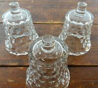 Set of 3 Votive Cups Homco Home Interior Crystal Clear Glass Cubist Block Design