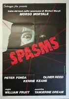 "SPASMS 1984 Original Movie Poster 39x55"" 2Sh Italian FRUET FONDA KEANE HORROR"