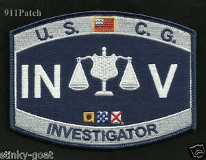 Military USCG Rating INV Investigator United States COAST GUARD Patch