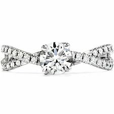 Diamond Accents Engagement Ring Size 6 Sterling Silver 1.10 Ct Tw White