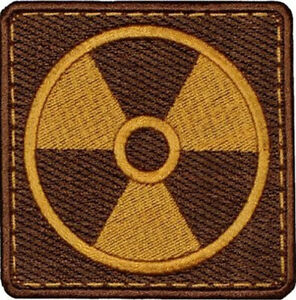 STALKER Neutrals Atomic Power Embroidered Sew-on/ Iron-on/ Hook & Loop Patch