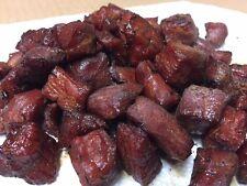 """4 OUNCES - TERIYAKI - """"Charlie's"""" Wood Smoked Homemade Beef Jerky BITES"""