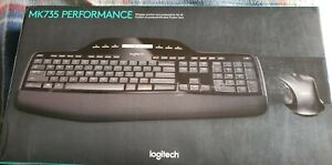Logitech MK735 Performance Wireless Keyboard & Mouse Combo Black (New In Box)