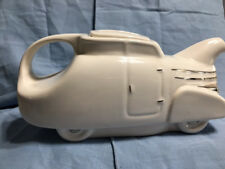 Hall's China Novelty Automobile Car White Teapot - USA