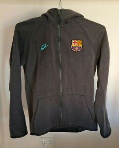 Nike Barcelona Grey Hoodie Jacket Junior Size L Authentic Pre-owned