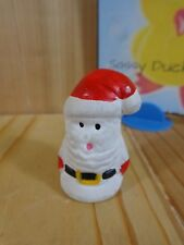 "SANTA CLAUS FIGURINE 2"" Thimble White Red Porcelain Christmas"