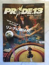 Pride Fc 13 Official Program Mma Event Sakuraba