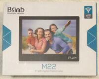"NIB BSIMB 8"" WiFi Digital Photo Frame M22 Hi-Res 1280x800 (16:10) Display Remote"
