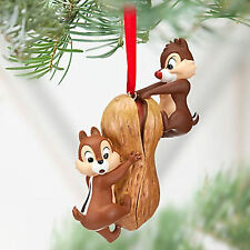 DISNEY STORE CHIP 'N' DALE ON PEANUT 2012 SKETCHBOOK CHRISTMAS ORNAMENT RARE NEW