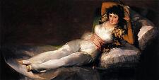Oil painting francisco de goya - The Clothed Maja (La Maja Vestida) young lady