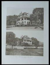 THOUNE, VILLA NUSSBUHL - 1911 - PLANCHE ARCHITECTURE - LANZREIN MEYERHOFER THUN