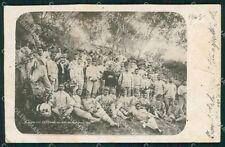 Palermo Misilmeri 24º Reggimento Fanteria Banda Musicale Foto cartolina QT7875