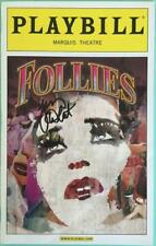 Terri White Signed (Only) Follies Playbill  Bernadette Peters Elaine Paige 2011