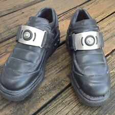 New Rock Black Leather Sneaker Shoes Mens C 42 Platform Punk Creeper Metal Goth