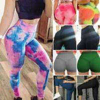 Women Yoga Pants Capri High Waist Anti-Cellulite Workout Sport Trousers Leggings
