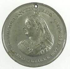 1897, Great Britain lion QUEEN VICTORIA'S JUBILEE - GLOUCESTER white metal 39mm