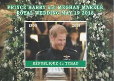 Chad 7597 - 2018 HARRY & MEGHAN WEDDING  imperf deluxe sheet  unmounted mint