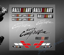 Set (13 pcs) Colorful RALLI ART The Spirit of Competition Logo Car Sticker Decal