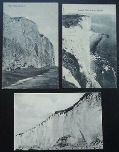 Sussex Eastbourne 3 x SEAFORD CLIFFS & SEVEN SISTERS - Old Postcard