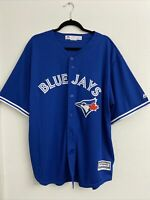 NEW Mens Majestic MLB 2016 Toronto Blue Jays JERSEY BUTTON Stitched RARE SZ XXL