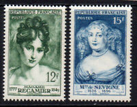 France Set of 2 Stamps c1950 Unmounted Mint Never Hinged (8541)