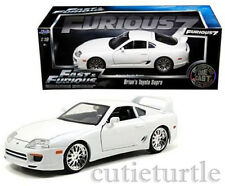 Jada Fast & Furious 7 Brian's Toyota Supra 1:18 Acted By Paul Walker 97509 White