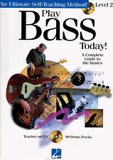 PLAY BASS TODAY! LEVEL 2 Tutor Sheet Music Book & CD