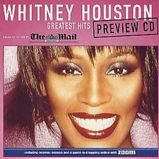 Whitney Houston - Greatest Hits Preview CD (Daily Mail) Cardboard Picture Cover