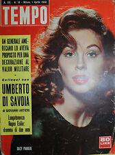 TEMPO N° 14/ 01.APR.1958 - SUZY PARKER - IL PADRE DELL'ATOMICA PARLA DEL FUTURO
