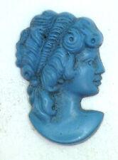 Antique Vintage Turquoise Cameo Cut Out Stone Design Piece Trim #ZZ62