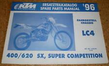 Catalogue des Pièces Châssis KTM 400/620 LC 4 - Modèle Année 1996
