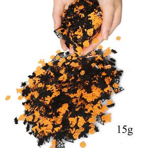 15g Confetti Pumpkin Spider Bat Witch Spider-web Halloween Night Party Decor