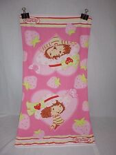 Vtg Strawberry Shortcake Childs Terry Cloth Bath Beach Towel 19 x 36