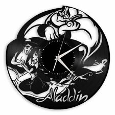 Aladdin Vinyl Wall Art Clock Unique Collectible Gift Anniversary Bedroom Decor