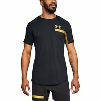 UA Perpetual Graphic Men's Short Sleeve Shirt Under Armour T-shirt 1306380 Black