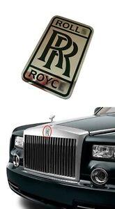 Emblem Badge Logo Sticker Front Bumper Grille for Rolls Royce Vehicles 4cm x 7cm