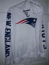 New England Patriots football Hooded Sweatshirt NFL apparel Hood Shirt 'Ladies M