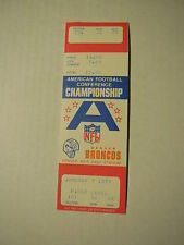 1979 AFC CHAMPIONSHIP Unused Broncos TICKET STUB (Voided - Game never played)
