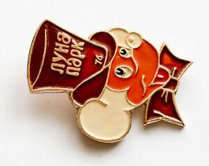 Russian Mickey Mouse Disney Pin Button Badge Kid Child Soviet Children USSR Park