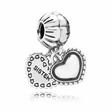 AUTHENTIC PANDORA MY SPECIAL SISTER,TWO-PART DANGLING CHARM BRAND NEW #791383 FS