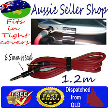 AUX Gold plated Thin Fit Head 3.5mm Cable Stereo Audio Cord Male to Male MP3