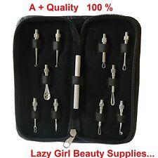 10 Pcs Blackhead Comedone Acne Pimple Blemish Extractor Remover Tool Kit Set UK